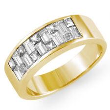 1.75 Ct Princess Baguette Diamond Wedding Anniversary Band Ring 14k Yellow Gold