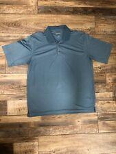 Men's Pebble Beach Blueish Grey Xl Short Sleeve Golf Shirt - Nwot
