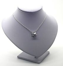 Sterling Silver Necklace With Large Heart Shaped CZ Pendant Gorgeous Fastening