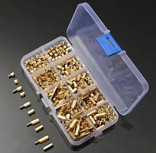 300Pcs M3 Brass Hex Column Standoff Support Spacer Screw Nut Assortment Kit-004