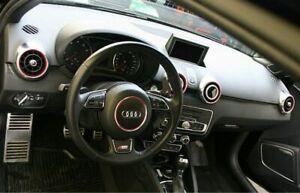 Audi A1 8X Sportback S1 Optik Set Zierblenden Dekorblenden rot Lenkrad Radio