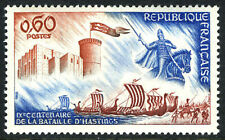 France 1160, MNH. Battle of Hastings, 900th anniv. Castle and Norman Ships, 1966