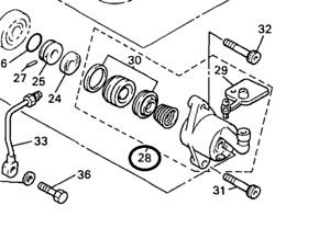 Yamaha 1FK-16381-11-00 Clutch Slave Cylinder Push Lever Comp Vmax VMX12 XVZ12 13