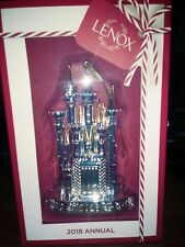 Lenox 2018 Disney Cinderella Castle Christmas Ornament (Nib)