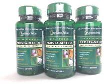 3 Bottles Puritan's Pride  Prosta-Metto® Saw Palmetto Complex For Men