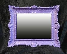 Wandspiegel + Konsole Spiegelablage 56x46 ANTIK BAROCK 811 Eingangsmöbel Lila