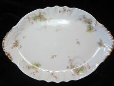 "Theodore Haviland Limoges Antique Porcelain 14"" Oval Platter Schleiger 314A"