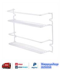 2 Tier White Wire Iron Spice Rack Holder Shelf Rack 20Hx 29Wx 7cmD Kitchen Decor