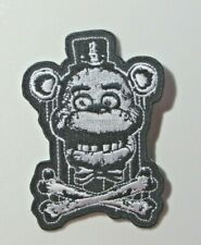 "Five Nights At Freddy'S ""Freddy/Crossbones&# 034; 3"" Sewn/Iron On Embroidered Patch"