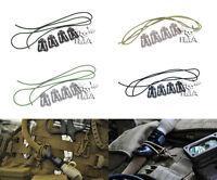 FMA Airsoft ITW Style Web Dominator Molle Elastic Holder Clips Set (4 Pcs Set)