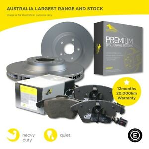 Front & Rear Brake Pads Disc Rotors with Sensors Full SET for BMW X3 F25 328mm