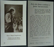 OLD BLESSED ECCE PANIS ANGELORUM HOLY CARD BREAD OF HEAVEN PAN DEL CIELO CC1708