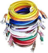 Cat7 Câble Réseau Ethernet Plat RJ45 Patch LAN UTP Router Network - 0,5m - 20m