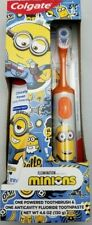 Colgate Brand Powered Toothbrush and Anticavity Toothpaste Set Minions Orange
