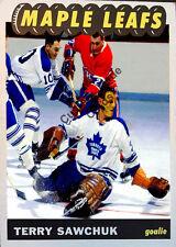 Custom made Topps 1965-66 Toronto Maple Leafs Terry Sawchuk white hockey card