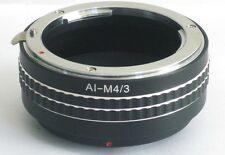 Nikon F AI Lens to Micro 4/3 M43 M4/3 Mount Adapter G3 GH2 GX1 E-P3 OM-D AI-M43