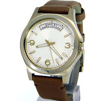 MARC BY MARC JACOBS UNISEX  MEDIUM 40mm  YELLOW GOLD LAYERED  LEATHER  MBM1261