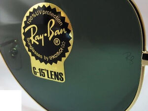 pair of replacement lenses - Ray-Ban - RB 3025 - aviator metal - glass genuine