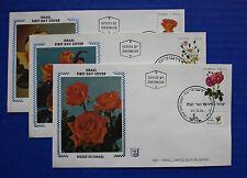 "Israel (791-793) 1981 Roses in Israel Zaso ""Silk"" FDCs"