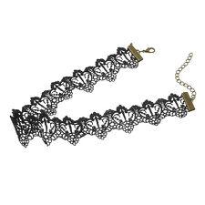 Vintage Gothic Black Velvet Ribbon Chain Choker Statement Crystal Necklace Gift