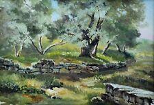"Vintage Landscape  ""Trees in Park""  Watercolor, not signed 8"" x   (BI#MK/200113)"
