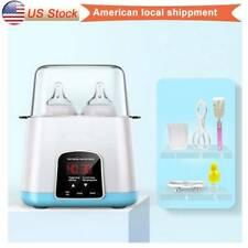 Mommy Portable Baby Double Bottle Warmer Steam Sterilizer Food Breastmilk Heater