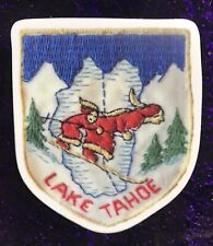 Lake Tahoe Ca Ski Snowboard Resort Sticker Made From Image Of Vintage Ski Patch
