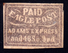 #61L4 + 1LB1 - Eagle City Post Local + Baltimore Carrier, Printed on Both Sides!