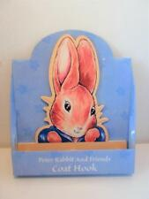 Classic Beatrix Potter Peter Rabbit Bunny Baby Nursery Furniture Coat Hooks Pegs