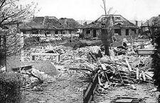 ORPINGTON KENT LAST GERMAN FATAL ATTACK 1945 VINTAGE MOUNTED PRINT ANCESTRY
