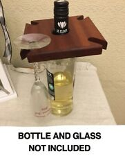 Wooden Wine Caddy - Holds 4 glasses