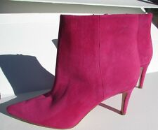 Sam Edelman Ankle Boots 375 Size 7, 7.5, 8 Suede pink Heels NEW shoes  Zipper