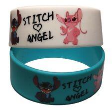 Lilo and Stitch Stitch and Angel Set of 2 Rubber Wristbands