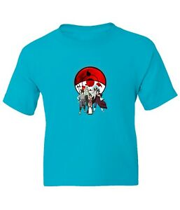 Strongest Uchiha Members Kid Girl Boy Youth Unisex Cartoon Anime Top Tee T-Shirt