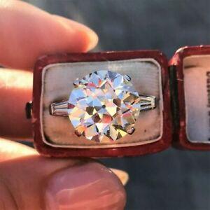2.00 ct Round Cut Diamond Wedding Ring Hallmark 14k White Gold