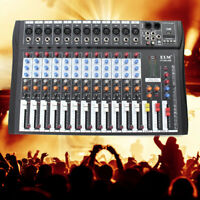 CT-120S 12 Channel Professional Music Stereo Mixer USB Power Mixing Console