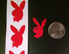 ~~~100~~~   PLAYBOY BUNNY TANNING BODY STICKERS  RED With BOW TIE Faces Left