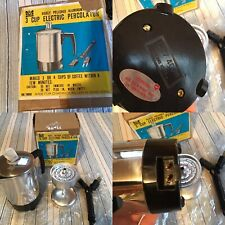 VINTAGE NOS(New) Chadwick-Miller 3-4 Cup Coffee Percolator In Box