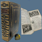 1717 Red-Ruled FIRST EDITION John Baskett VINEGAR BIBLE Illustrated KING JAMES