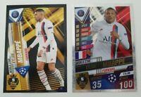 2020 Kylian Mbappe 100 Club Soccer Card Shiny World Star W5 PSG Match Attax 101