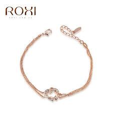 Roxi 18k Chapado en Oro Rosa Pulsera Corazón