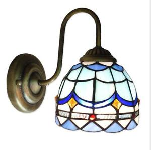 Tiffany Stained Glass LED Wall Single Lamp Indoor Wall Light Mediterranean Style