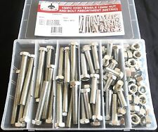 100pc GOLIATH INDUSTRIAL 12MM HIGH TENSILE NUT AND BOLT ASSORTMENT METRIC HTNB12