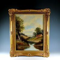 Landscape Oil Painting English School, Signed
