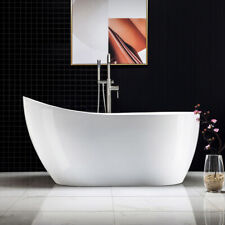 Woodbridge 59'' Freestanding Bathtub BTA1530 with Brushed Nickel overflow& drain