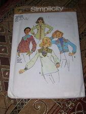 1975 SIMPLICITY #7143-LADIES RETRO WESTERN RODEO or DASHIKI SHIRT PATTERN  6 & 8