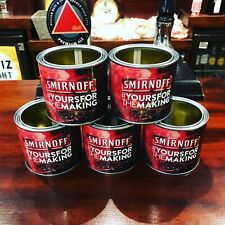 More details for smirnoff vodka cocktail paint tins drinking cups x5