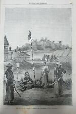 JOURNAL DES VOYAGES N° 346 de 1884 CHINE POLICE TONKIN EXÉCUTION PIRATE ANAMITES