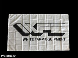 White Tractor Flag - 3ft x 5ft Free Shipping
