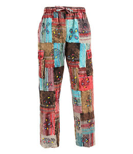 Patchwork Cotton Cargo Trousers
